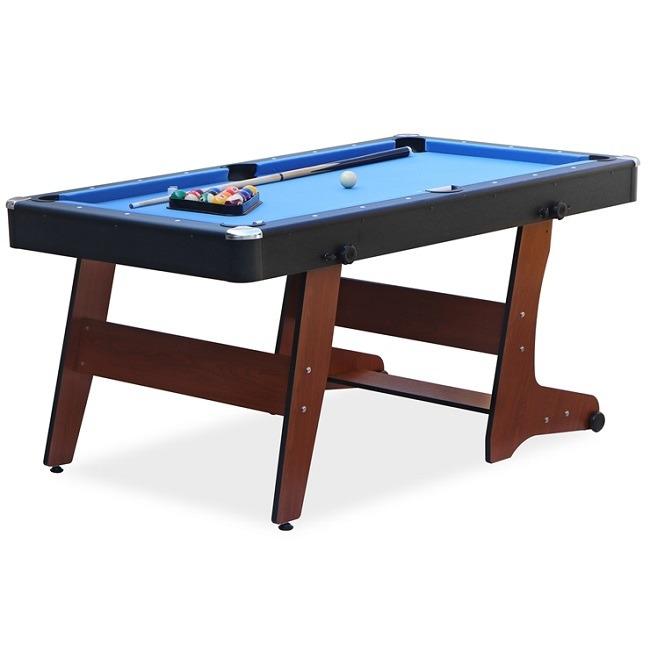 Rack Drogon 5 5 Foot Folding Billiard Pool Table Brown Rack Pool Tables